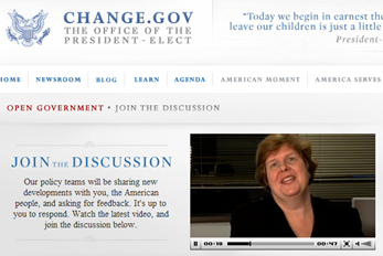 Change.gov little embedded video works great (click for larger image)