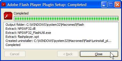 Plugin Setup works for Chrome